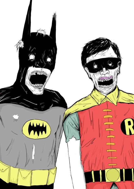 Batman & Robin are a little the worse for wear...