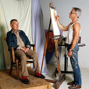 isherwood being painted by bachardy