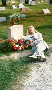 Charlie at Dean's grave