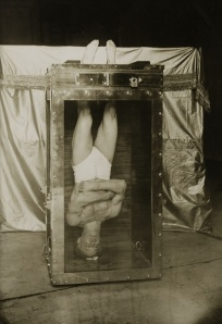 Harry Houdini in Water-Torture Chamber 1912