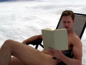 No, it's NOT me reading: It's Alexander Skarsgard - and since he's going to play the character based on me from my novel when the film is made - seemed the thing to do.