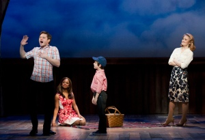 Bobby Steggert, Krystal Joy Brown, Zachary Unger, Kate Baldwin in BIG FISH: THE MUSICAL
