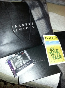 "The two A's brought me Barneys New York and ""BIG FISH"" swag from NYC - as well as the new ""HARVEY MILK"" Lippa CD. They get me, those two."