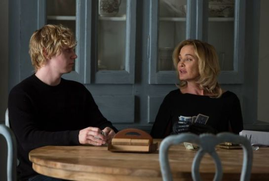 Evan Peters - my future husband - and Jessica Lange - my future BFF -in AMERICAN HORROR STORY: COVEN