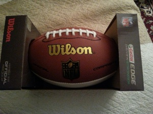 Seriously? Someone sent me a FOOTBALL?