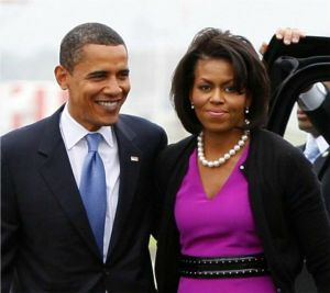 I know, it's President Obama and First Spouse, Michelle, but I LOOOOVVVEEE Michelle so much.