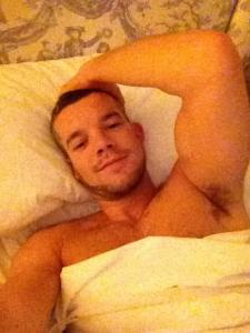 My lover, Russell Tovey, after one more satisfying and exhausting session of passionate sex