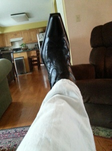 My real Italian leather designer shoes - worn for my A-squared