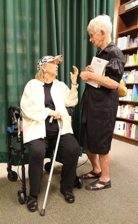 Barbara Cook and Barbara Barrie at Lee Grant's book signing. Photo by Matthew Rettenmund