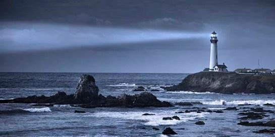 Pigeon Point lighthouse USA, California, Big Sur