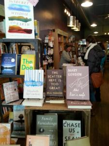 At my fave bookstore, THE CURIOUS IGUANA, the work of one of my favorite TwitLit authors, Elizabeth McCracken, on the front table. So much goodness.