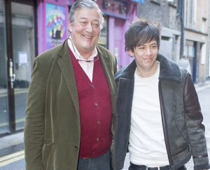 Stephen Fry and fiancee